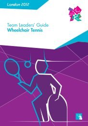 London 2012 Team Leaders' Guide Wheelchair Tennis
