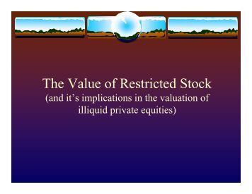 Restricted stock options valuation
