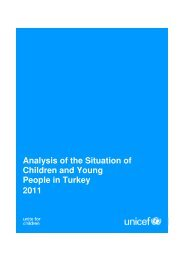 Analysis of the Situation of Children and Young People in Turkey 2011