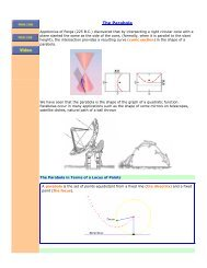 The Parabola - The Burns Home Page