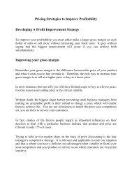 Pricing Strategies to Improve Profitability Developing A ... - Emochila