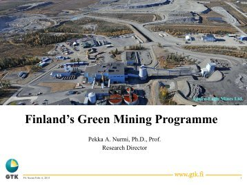 Tekes Green Mining Program/GTK