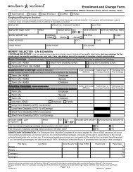 Enrollment and Change Form - InstantBenefits.net
