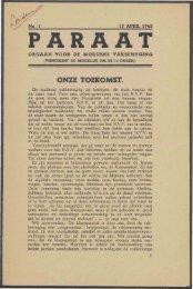 Paraat (april 1945) nr. 1 - Vakbeweging in de oorlog