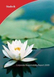 Corporate Responsibility Report 2009 - Studsvik