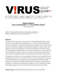 Espaço público: risco, participação e o