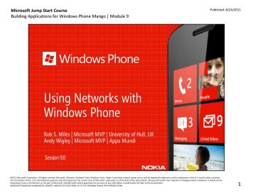 Using Networks with Windows Phone