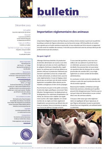 Bulletin N°6 - FAVV