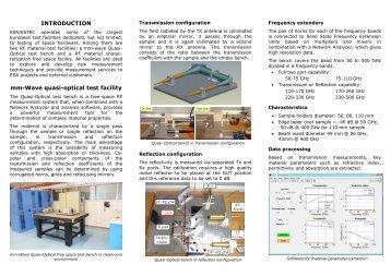 INTRODUCTION mm-Wave quasi-optical test facility - ECIT