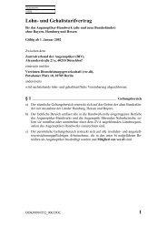und Gehaltstarifvertrag - Fachbereich Medien, Kunst und Industrie ...