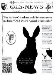 Was hat der Osterhase wohl Interessantes in dieser OLS-News ...