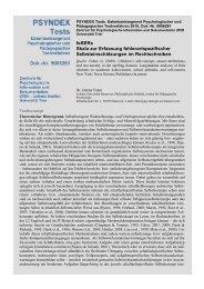 Autorenbeschreibung mit Fragebogen und Auswertung ... - ZPID