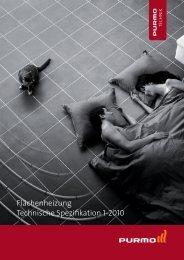 Flächenheizung Technische Spezifikation 1-2010