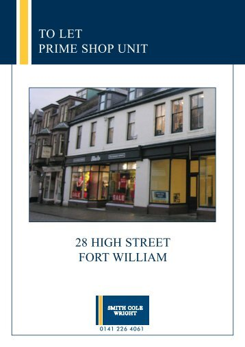 28 high street fort william to let prime shop unit - Smith Cole Wright