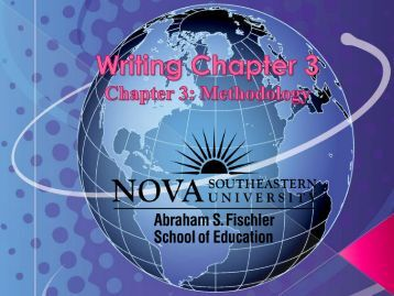 Writing Chapter 3 (Qualitative Research Methods) - 1