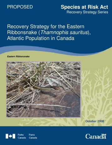Species at Risk Act Recovery Strategy for the Eastern Ribbonsnake ...