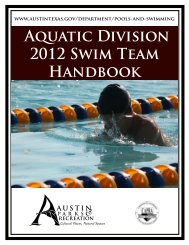 Aquatic Division 2012 Swim Team Handbook - City of Austin