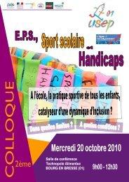 plaquette colloque ecoles version 100909 - comite departemental ...