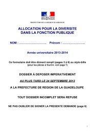 CONCOURS D'ACCES - Préfecture de région Guadeloupe