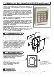 S844 with KeyPad - Installation Instructions - G4S Technology