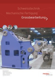 Grossbearbeitung - Promec Estech AG