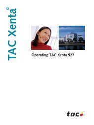 © Operating TAC Xenta 527 - Schneider Electric Buildings
