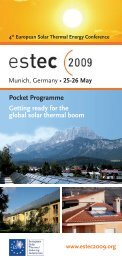 Pocket Programme - 4th European Solar Thermal Energy Conference