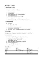 Protokoll vom 17.10.2012 1) Reflexion der Erstitage ...