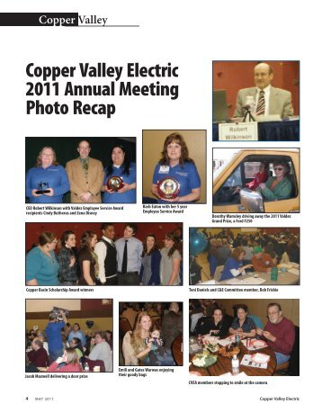 Copper Valley Electric 2011 Annual Meeting Photo Recap
