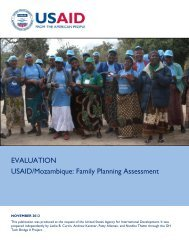 Evaluation: USAID/Mozambique: Family Planning Assessment
