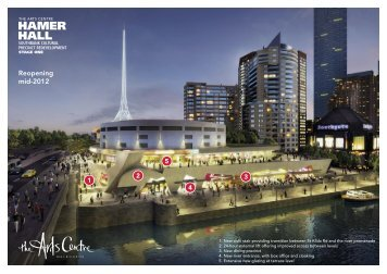 Hamer Hall Redevelopment open day flyer - Major Projects Victoria