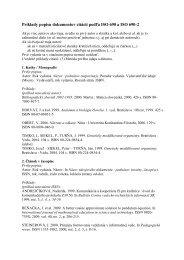 Príklady popisu dokumentov citácií podľa ISO 690 a ISO 690-2