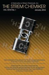The Strem Chemiker Vol. XXVII No. 1, January, 2014
