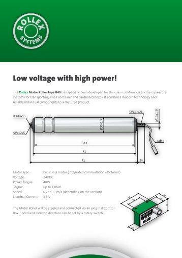 Low voltage with high power! - Rollex Förderelemente GmbH & Co.KG
