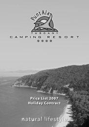 Price List 2007 Holiday Contract Price List 2007 ... - Italiacampeggi