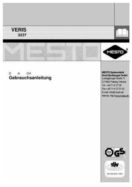 Gebrauchsanleitung - Mesto