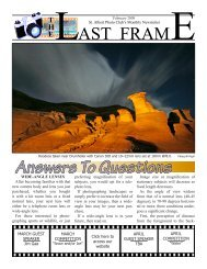 Answers To Questions - St. Albert Photo Club