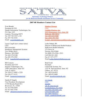 list of contact points for ism matters iacs