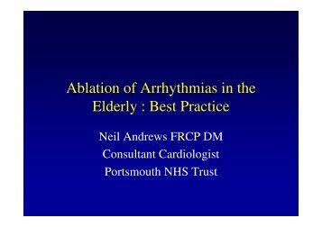 Ablation of Arrhythmias in the Elderly : Best Practice