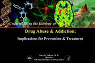 Understanding the Etiology of Drug Abuse & Addiction: Implications ...