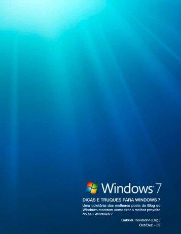Dicas e Truques para Windows 7.pdf - PHPLeV