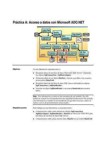 Práctica A: Acceso a datos con Microsoft ADO.NET - Willy .Net