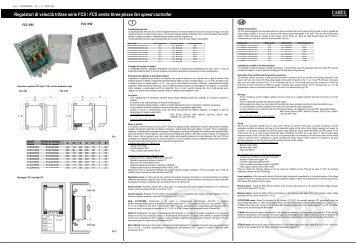 Regolatori di velocità trifase serie FCS / FCS series ... - Gafco-Altron bv