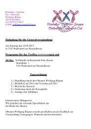 Einladung für die Generalversammlung - Klinefelter-Syndrom ...