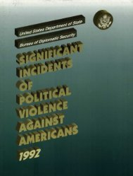 Significant Incidents of Political Violence Against Americans 1992