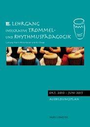 AusbildungsplAn OKT. 2010 – Juni 2013 - Trommel-Rhythmus.at