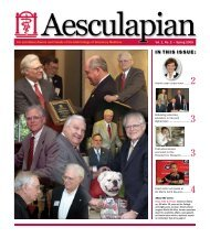 Spring 2005 Aesculapian newsletter - University of Georgia College ...