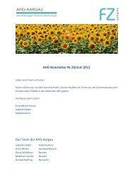 AHG Newsletter Nr.20/Juni 2012 Das Team der AHG Aargau