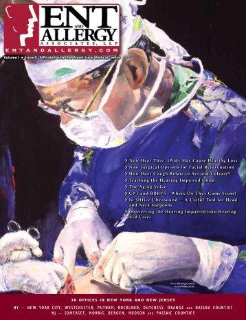 Volume I Issue V - ENT & Allergy Associates