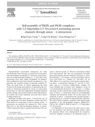 Self-assembly of Pd(II) and Pt(II) complexes with 2,20-bipyridine-3 ...